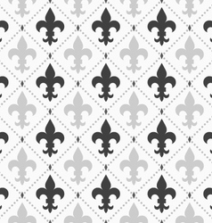 Shades of gray light and dark Fleur-de-lis vector image