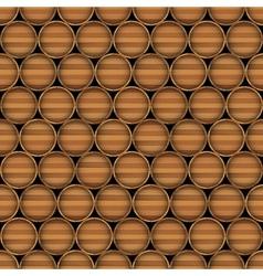 Wooden barrels vector image