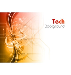 background line wave light tech vector image