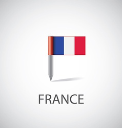 france flag pin vector image vector image