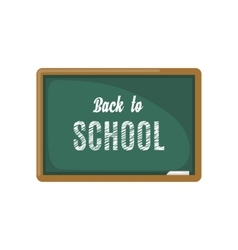 Green chalkboard icon on white background vector image