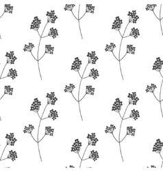 Hand drawn floral seamless pattern vector image