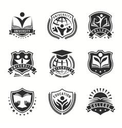 University And College Logos Emblem Set vector image