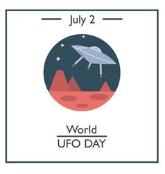 World UFO Day vector image