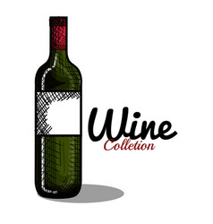 best wine bottle icon vector image