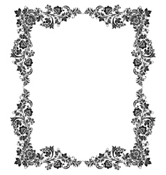 black and white vintage frame vector image vector image