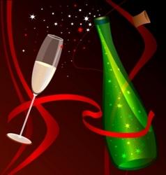celebratory champagne vector image vector image