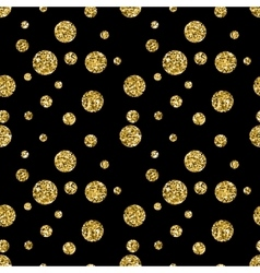 Glitter dotted seamless patterns vector image vector image