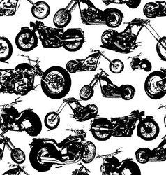 seamless retro motorbike background vector image vector image