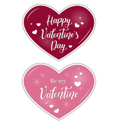 valentines with calligraphy vector image