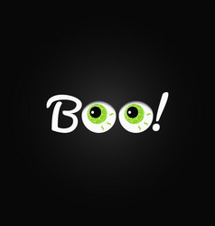 boo halloween lettering with eyes design vector image vector image