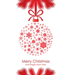 christmas ball fir vector image vector image