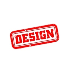 Design rubber stamp vector image vector image