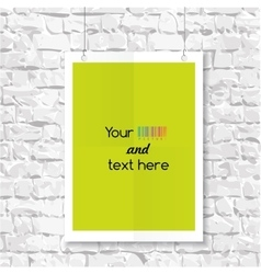 Empty blank on a brick wall vector image