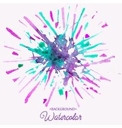 Hand drawn watercolor background firework stain vector image vector image