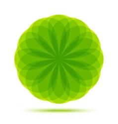 Organic Natural Circular Green Emblem vector image vector image