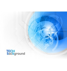 tech background blue corner round vector image