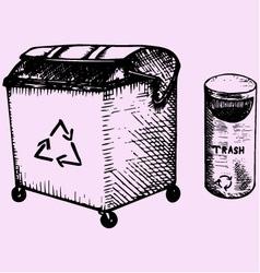 trash bins vector image