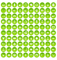 100 loader icons set green circle vector