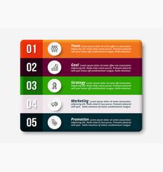 5 work steps any business company organizatio vector