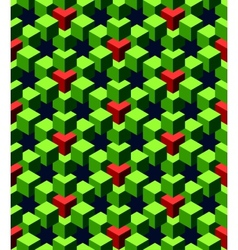 abstract green cubes vector image