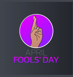 april fools day logo icon design vector image