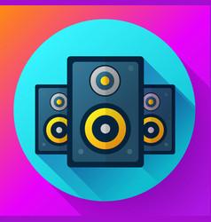 audio music icon and media speaker icon vector image