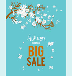 Autumn big sale image vector