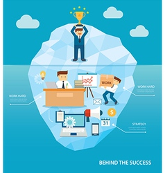 behind business success flat design vector image