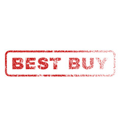 best buy rubber stamp vector image