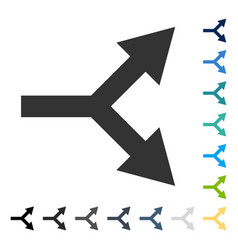 Bifurcation arrow right icon vector