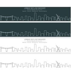 bilbao single line skyline banner vector image