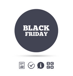 Black friday sign icon sale symbol vector
