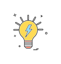 blub power electric icon design vector image
