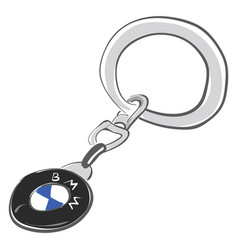 Bmw keychain or color vector