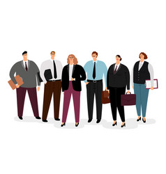 Business people in formal clothing vector