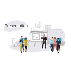 businesspeople group training conference meeting vector image