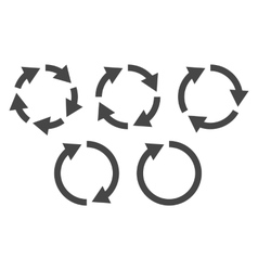 Circular arrows icon set vector