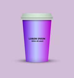 Coffee mug for web application vector