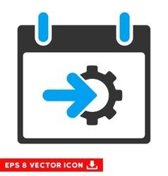 Cog Integration Calendar Day Eps Icon vector
