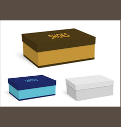 Color templates of empty boxes for shoes vector