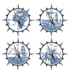 compass image set vector image
