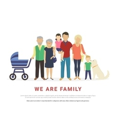 Concept of big family portrait vector image