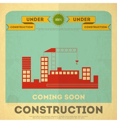 Construction placard vector
