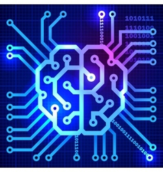 Cyber brain vector image