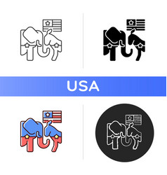 Democrats vs republicans icon vector
