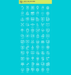 design seo and development icons vector image