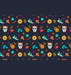Dia de los muertos pattern vector