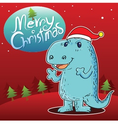 Dragon Merry Christmas vector