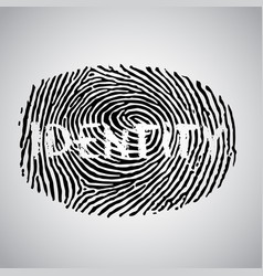 Fingerprint with identity vector
